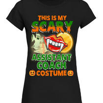 This Is My Scary Assistant Coach Costume Halloween Women Shirt Photo