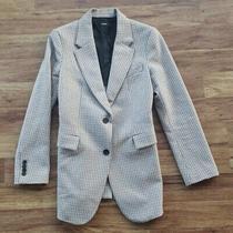 Thoery Women's Size 2 Houndstooth Cotton Wool Blend 2 Button Blazer Photo