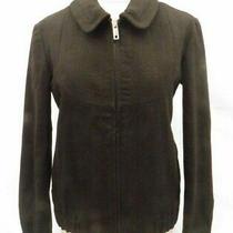 Thomas Burberry Jacket Coat Black Size Xs Uk 6 8 Bomber New No Label Women's  Photo