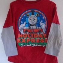 Thomas the Train Holiday Express Special Delivery Boy's Christmas Shirt Size 5t Photo