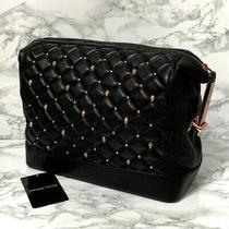 Thomas Wylde Black Leather Rose Gold Skull Studded Clutch Bag Handbag Used W/tag Photo
