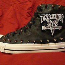 Thrasher Skater Custom Studded Converse Punk Skateboard Sneakers Shoes W Spikes Photo