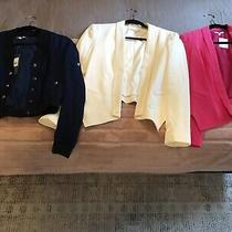 Three Bnwt Rebecca Minkoff Jackets Size 4/s - Two Silk Blazers One Bomber Photo