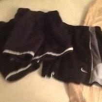 Three Boys Black Athletic Shorts Size 4 One by Nike and Two by Wes and Willy Photo