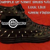 Three Days Grace Punk Rock Custom Studded Converse Shirt Sneakers Shoes W Spikes Photo