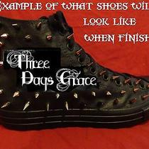 Three Days Grace Rock Band Custom Studded Converse Shirt Sneakers Shoes W Spikes Photo