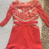 Three Floor Dress Red Lace Asos Stella Givenchy Size Uk8 Photo