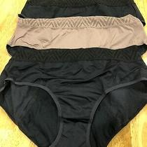 Three Pairs 2xl Thinx Period Panties  Black Blush Hiphuggers 14-16 Photo