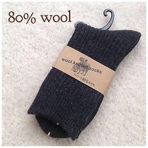 Three Pairs Men's Lambs Wool Socks for Autumn or Winter 40% Off Photo