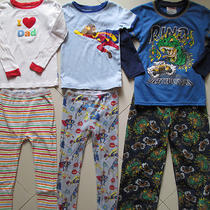 Three Sets of Boys Pj's Carter's & Baby Gap Size 4t Photo