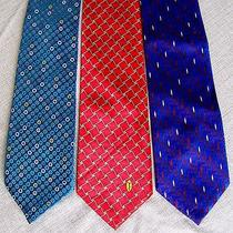 Three Silk Designer Neckties Boss Yves Saint Laurent Jhane Barnes  Likenu Photo