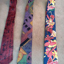 Three Wild and Fun Ties.  the Red One Is 100% Silk Handmade by Parksden Photo