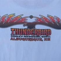Thunderbird Harley Davidson Albuquerque Nm Men's White Front Pocket T Shirt Xl Photo