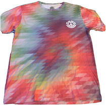 Tie Dye Element Surf Shirt Mens Size Large Peace Sign Used Photo