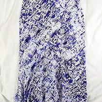 Tie Dye for  390 Gryphon 'Ripple' Skirt in Purple and White Silk  S Photo