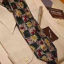 Tie Givenchy Made in Italy Seta Luxury Paintings With Cherries and Flowers Cp31 Photo