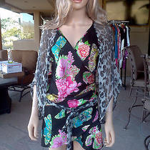 Tiffany Alana Long Wrap Around  Top Size M  Nwot Photo