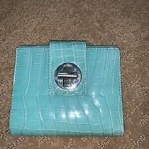 Tiffany and Co Tiffany Blue Bifold Crocodile Skin Rare Wallet Turn Lock Photo