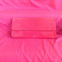 Tiffany and Fred Red Bag Cowhide Leather Cuir De Vachette Clutch Purse Photo