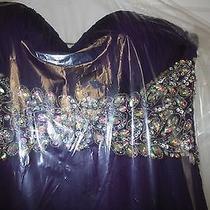 Tiffany Chiffon Purple Prom Dress Size Medium Photo