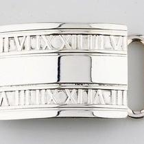 Tiffany & Co. 925 Sterling Silver Atlas Collection Belt Buckle Photo