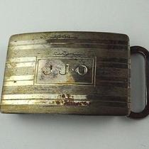 Tiffany & Co 925 Sterling Silver Belt Buckle Engraved j.j.o Photo