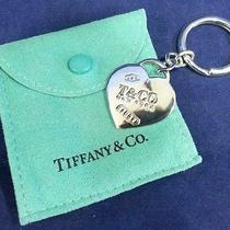 Tiffany & Co. 925 Sterling Silver Heart Key Chain 2005 Photo