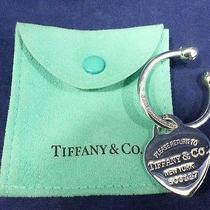Tiffany & Co. 925 Sterling Silver Heart Key Chain  Photo