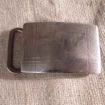 Tiffany & Co. Authentic Sterling Silver Engine Turned Mens Belt Buckle Photo