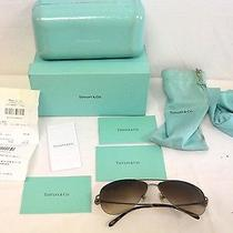 Tiffany & Co. Aviator Sunglasses 3021 W/ Case Box Dustbag & Cloth Photo