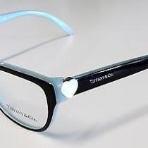 Tiffany & Co  Black and  Aqua Eyeglass Frame 2087-H  With Mother of Pearl Heart Photo