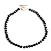 Tiffany & Co Black Onyx and Sterling Silver Beads Toggle Necklace Photo