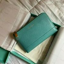 Tiffany & Co  Black Zipper Leather Wallet New Photo