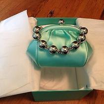 Tiffany & Co. Blue Satin Bead Bracelet Handbag  Photo