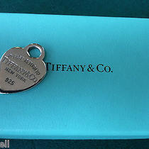 Tiffany & Co. Heart Sterling Silver Charm  Tiffany With Box  Photo
