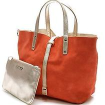 Tiffany & Co. Orange Suede Small Reversible Tote Bag Photo