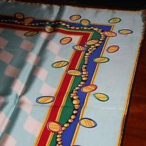 Tiffany & Co Silk Scarf Blue With Other Colors Photo