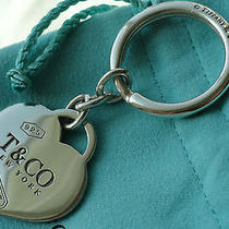 Tiffany & Co. Sterling Silver 1837 Heart Key Ring Key Chain Photo
