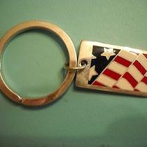 Tiffany & Co. Sterling Silver 925 Enamel Flag Pendant Key Ring Photo