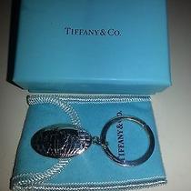 Tiffany & Co. Sterling Silver 925 Globe Tag Key Ring Photo