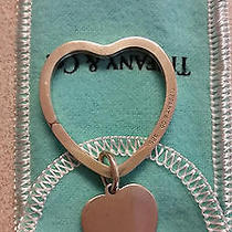 Tiffany & Co. Sterling Silver 925 Heart Key Ring Photo