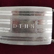 Tiffany & Co Sterling Silver .925 Monogram Dthn Belt Buckle 29g Photo