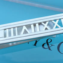 Tiffany & Co. Sterling Silver Atlas Stencil Roman Numeral Money Clip Photo