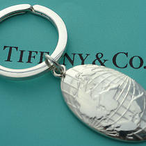 Tiffany & Co. Sterling Silver Globe Key Ring Key Chain Photo