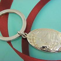 Tiffany & Co. Sterling Silver Globus  Key Ring Mint 40 Photo