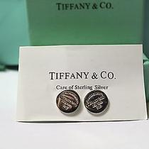 Tiffany & Co  Sterling Silver Round Return to Tiffany Tag Lover Earrings Photo