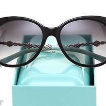 Tiffany & Co Sunglasses Black Azure Grey Lens Swarovski Crystal Silver Tf 4053b Photo