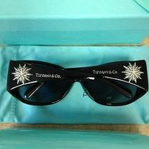 tiffany&co. Sunglasses New With Case Cloth Cert 100% Genuine Sterling Silver/dia Photo