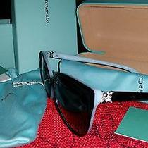 Tiffany & Co. Tf 4089b Sunglasses 8055/3c Black Blue Gray Gradient Women Photo