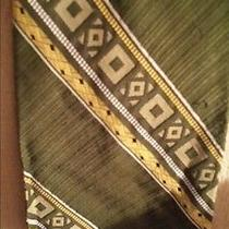 Tiffany Collection Mens Vintage Green Gold Necktie Photo